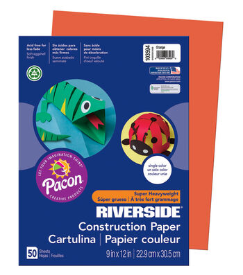 Busy Kids Learning Riverside Construction Paper-Orange