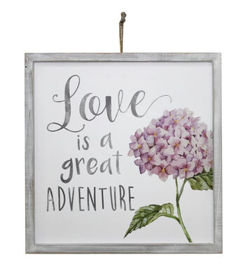Wild Blooms Wall Decor-Love is a Great Adventure