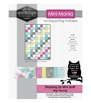 "Quiltologie Mini Mania Quilt Kit 15 1/2""x21 1/2""-Stepping Up"