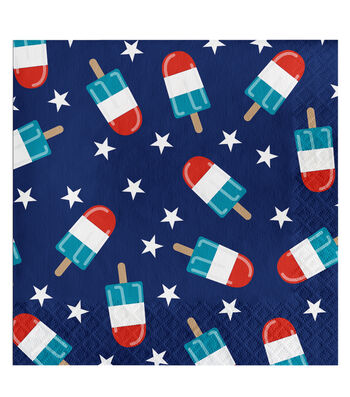 Americana Patriotic 20 Pack Paper Guest Towel-Frosty Fireworks