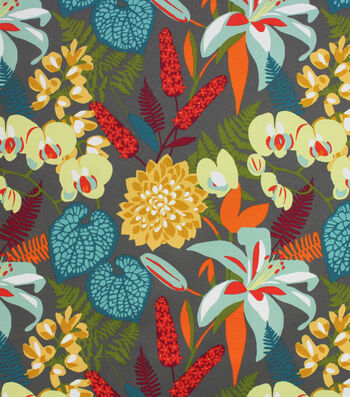 Solarium Outdoor Print Fabric 54''-Tropically Aspen