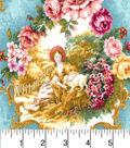 Buttercream™ Cosette Cotton Fabric 43\u0022-Floral Frame Metallic