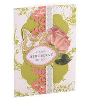 Card Kit Birthday Floral, , hi-res
