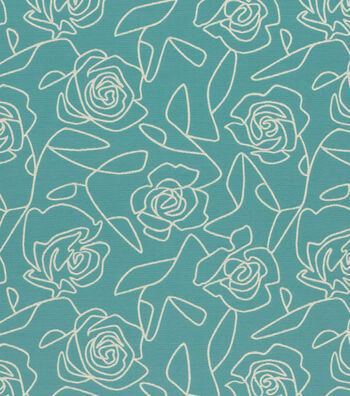 "Crypton Upholstery Fabric 54""-Bed Of Roses-Blue"
