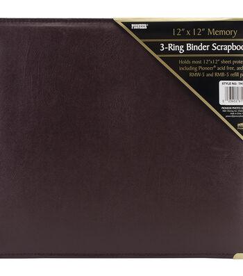 "Pioneer 12""X12"" Sewn Cover 3 Ring Album"