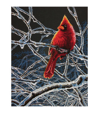 Dimensions Counted Cross Stitch Kit Ice Cardinal