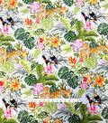 Cotton Shirting Tropical Fabric 57\u0022-Jungle Friends