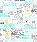 Nursery Flannel Fabric 42\u0027\u0027-Dream Big Words