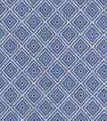 Luxe Flannel Fabric 42\u0022-Diamond Geo Navy Gray