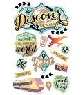 Paper House 4.5\u0027\u0027x8.5\u0027\u0027 3D Stickers-Discover The World
