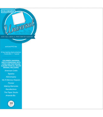 "Colorbok 12""x12"" Postbound Sheet Protectors"