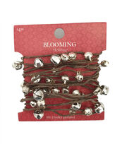 Blooming Holiday 9' Bells Rope Garland-Silver, , hi-res