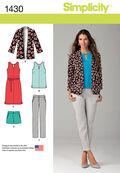Simplicity Pattern 1430R5 14-16-18-2-Misses Sportswear