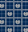 Utah State University Aggies Flannel Fabric 44\u0022-Plaid