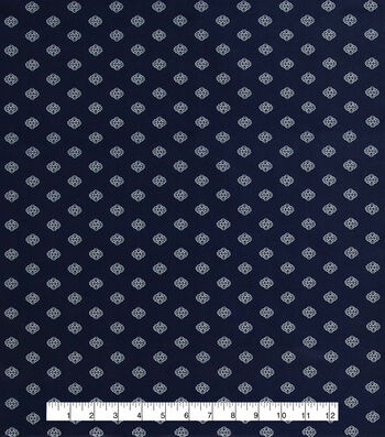 "Anti-Static Lining Fabric 58""-Navy Print"
