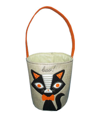 Maker's Halloween Fabric Treat Bag-Cat