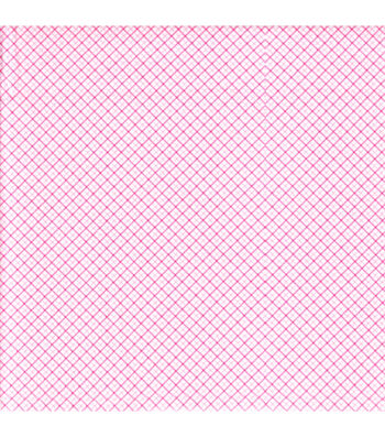 Snuggle Flannel Fabric 42''-Pink Diagonal Plaid