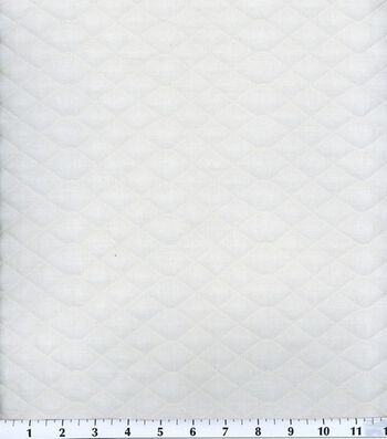 Double Faced Pre-Quilted Cotton Fabric 42''-Diamond Solids