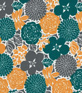 Quilter\u0027s Showcase™ Cotton Fabric 44\u0022-Deep Lake Floral
