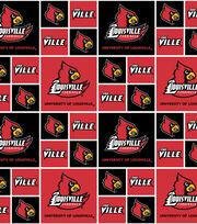 "University of Louisville Cardinals Cotton Fabric 43""-Block, , hi-res"