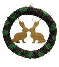 Easter Kissing Rabbit Wreath