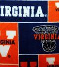 University of Virginia Cavaliers Fleece Fabric 58\u0022-Block