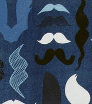 "Alexander Henry Cotton Fabric 44""-A Must Stache Denim, , hi-res"