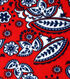 Blizzard Fleece Fabric- Red & Navy Floral