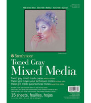 "Strathmore 9""x12"" 400 Series Mixed Media Pad-Toned Gray, , hi-res"
