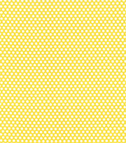 Made In America Cotton Fabric 44''-Dots on Yellow, , hi-res