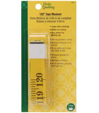 "Dritz Quilting 0.75"" x 120"" Tape Measure"