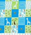 Snuggle Flannel Fabric 42\u0027\u0027-Blue Little Buddy
