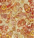 Williamsburg Print Fabric-Byzantine Damask/Cinnamon