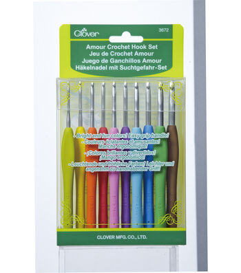 Amour Crochet Hook Set 10/Pkg-Assorted Sizes