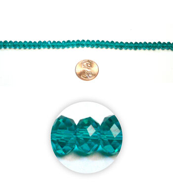 Sulyn 12'' Mini Crystalline Bead Strand-Teal