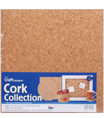 Darice Adhesive Backed Cork Tiles