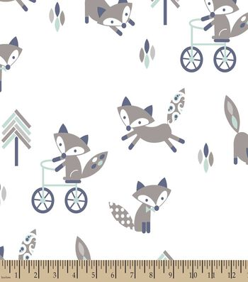 Fun with Foxes Print Fabric