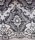 Casa Embellish Embroidered Medallion Fabric 50\u0027\u0027-Black