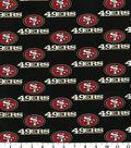San Francisco 49ers Cotton Fabric 58\u0027\u0027-Black
