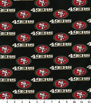 "San Francisco 49ers Cotton Fabric 58""-Black, , hi-res"