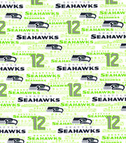 "Seattle Seahawks Cotton Fabric 58""-White, , hi-res"