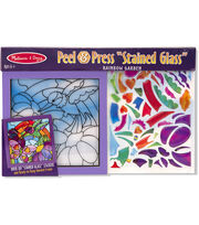 Melissa & Doug Peel & Press Stained Glass-Rainbow Garden, , hi-res