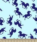 Blue Horses Print Fabric