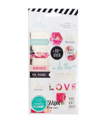 Heidi Swapp Memory Planner Pack of 26 Stickers-Floral