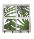 Summer Sol Wood Window Panel Wall Decor-White