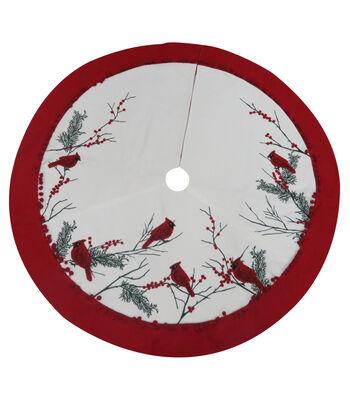Maker's Holiday Christmas 48''x48'' Tree Skirt-Cardinal