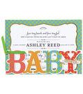 Anna Griffin Baby Shower Diecut Custom Invitation