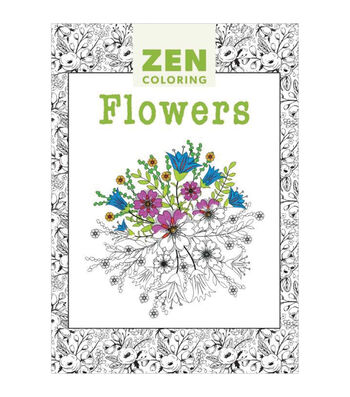 Adult Coloring Book-Guild of Master Craftsman Zen Coloring Flowers