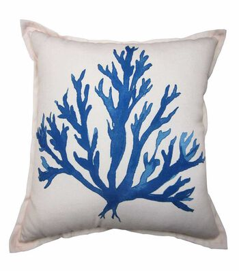 Seaport 18''x18'' Pillow-Blue Coral
