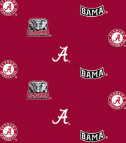 "University of Alabama Crimson Tide Cotton Fabric 43""-Allover, , hi-res"
